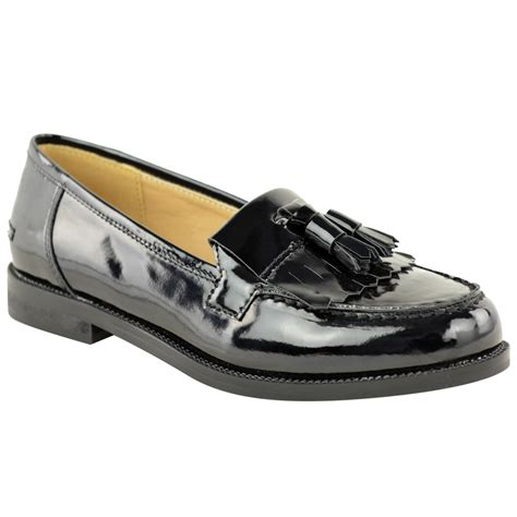 loafers for flat womens office flat casual patent faux leather