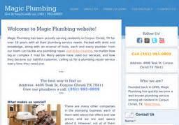 magic plumbing on teak st in corpus christi tx 361 993