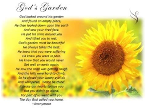 Garden Sayings For Funerals Funeral Poem Gods Garden Swanborough Funerals