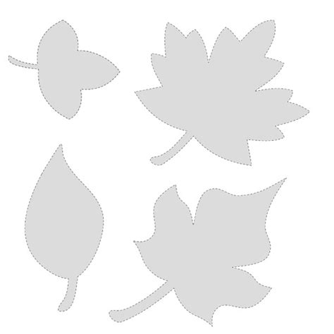 Printable Fall Leaf Shapes | 5 best images of printable fall leaves shapes printable