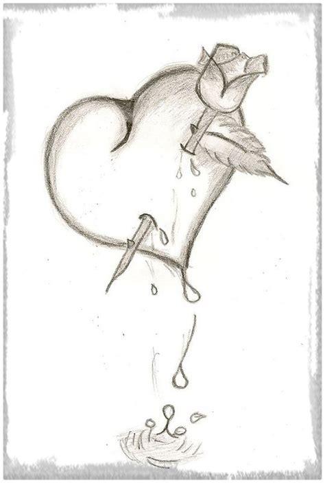 imagenes de un corazones dibujos de corazones rotos a lapiz www imgkid com the