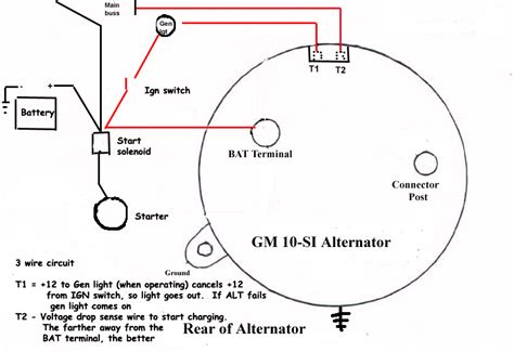 delco alternator wiring diagram gm 10si alternator wiring