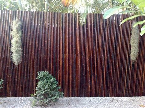 bamboo fence mahogany      sunset bamboo