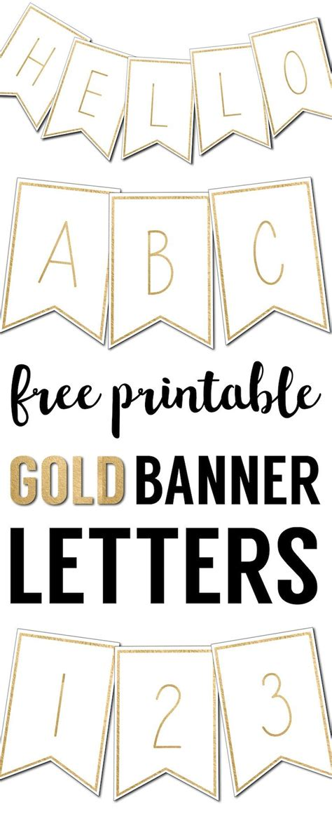 printable banner letters templates  printable