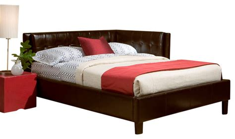 standard furniture rochester corner beds daybed  brown