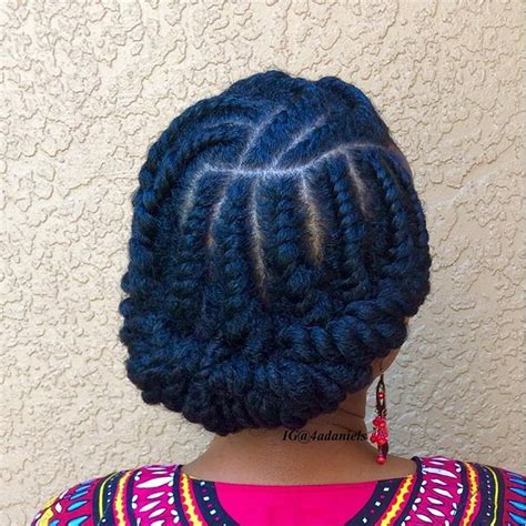 large flat braid updo i just did this style flat twist happy to be nappy