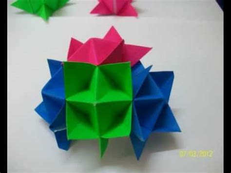 How To Make Origami Spike - origami spike decorative hanging