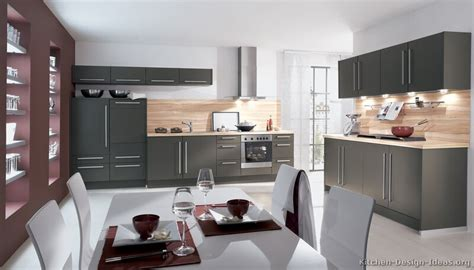 Grey Modern Kitchen Cabinets Pictures Of Kitchens Modern Gray Kitchen Cabinets Kitchen 5