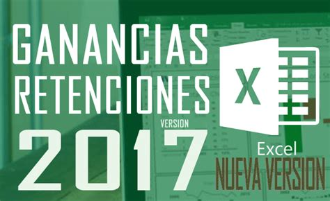 Nueva Versin De La Planilla Para Determinar Retenciones De Ganancias | planilla excel c 225 lculo retenciones ganancias 2017 nueva