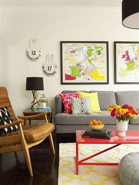 bright living room colors vintage maps gray couches and coffee on pinterest