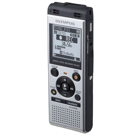 maxiaids olympus ws 852 stereo digital voice mp3 recorder 4gb