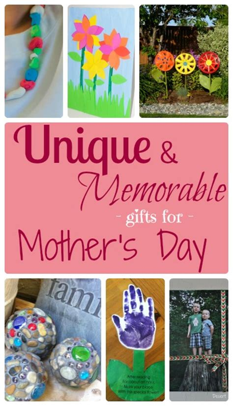 Handmade Day Gifts - unique and memorable handmade mothers day gifts