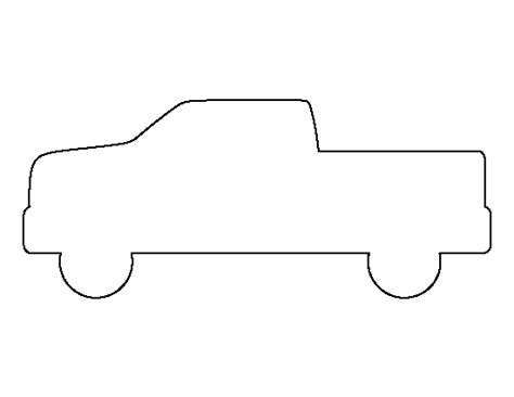 printable pickup truck template