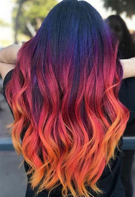 sunset hair color 55 glorious sunset hair color ideas for true romantics