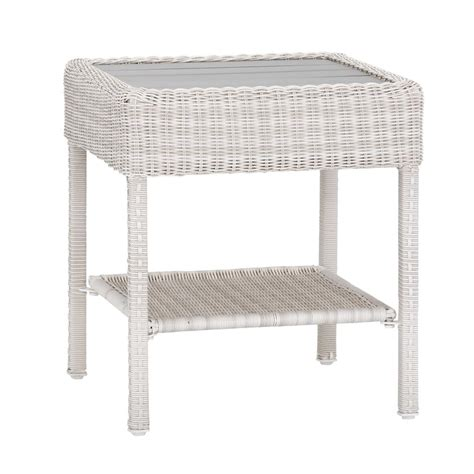 White Wicker Patio Table Homesullivan Calamar Walnut Mid Century Accent Table 40547wn 04 The Home Depot