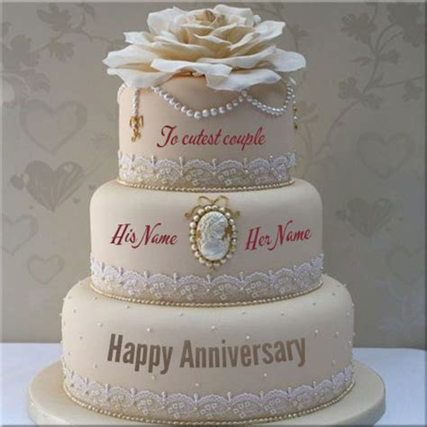 Wedding Anniversary Name Cakes by Write Your Name On Anniversary Cakes