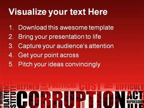 Ppt Themes For Corruption   corruption business powerpoint templates and powerpoint
