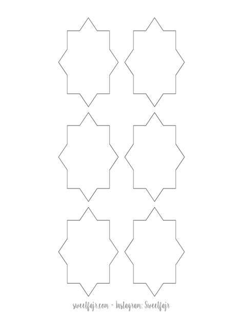 printable recovery star islamic star template free download