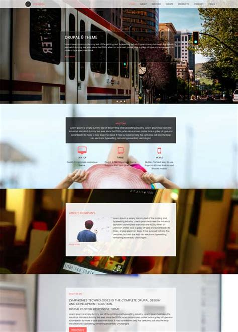 drupal themes responsive parallax free 50 best free responsive drupal themes 2018 freshdesignweb