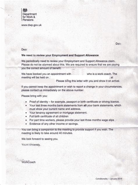 Complaint Letter Template Dwp So Which Political Will Stop This State Harassment Of Who Can T Work Kate Belgrave