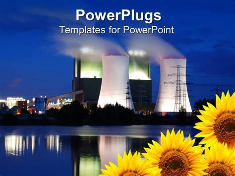 ppt templates for nuclear energy powerpoint template burning oil plants emitting heavy