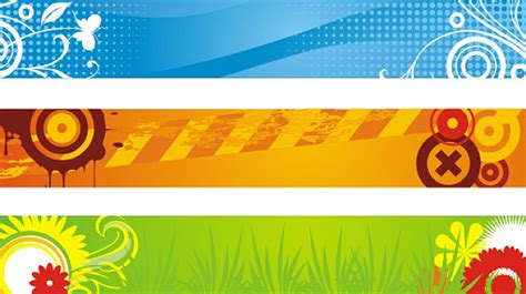 foto design flad banners attack vector free download