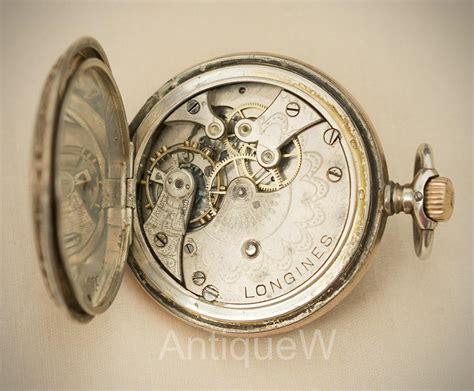 silver and enamel longines pocket nouveau style
