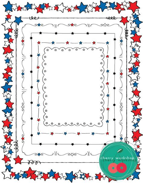 borders fourth of july black and decoration