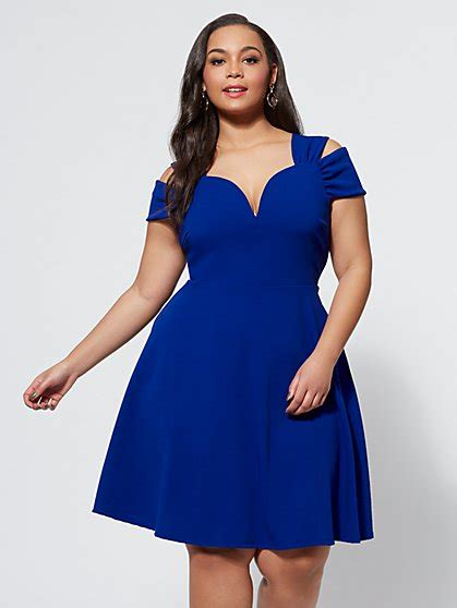Noelle Flare Dress plus size dresses for fashion to figure