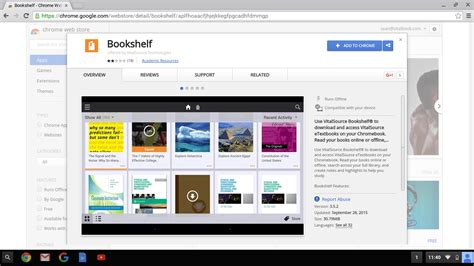 installing bookshelf on chromebook bookshelf support
