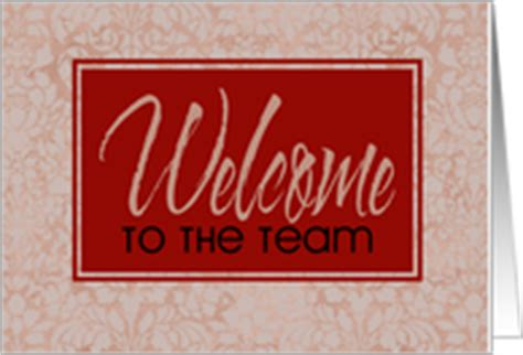 Welcome To The Team Card Template by Welcome Cards For New Employees From Greeting Card Universe