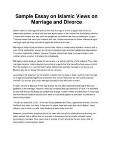 Early Marriage Cause And Effect Essay by Sle Essay On Islamic Views On Marriage And Divorce