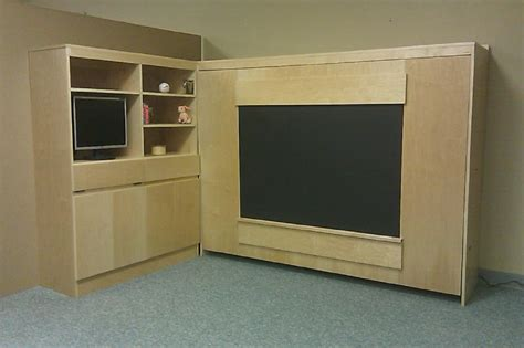 sideways murphy bed sideways chalkboard murphy bed custom by chris davis