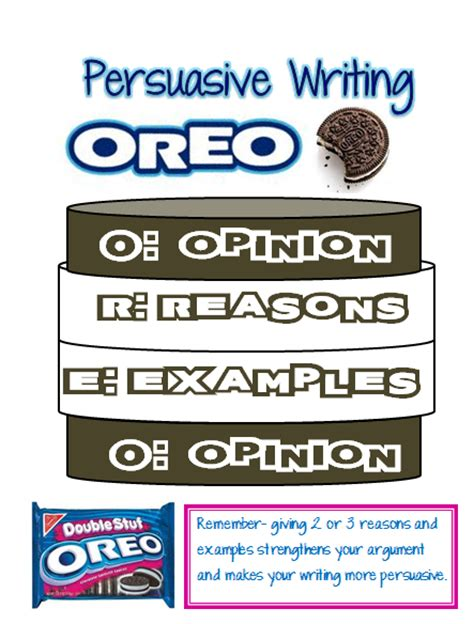 our cool school persuasive writing oreo updated with