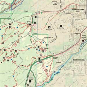 rails to trails oregon map bend trail map images