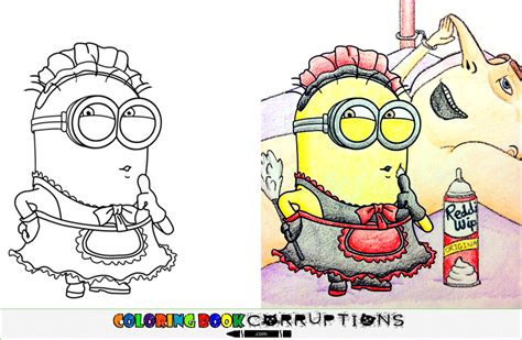 coloring book corruptions disney minion coloring book corruptions