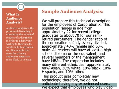 audience profile template audience analysis