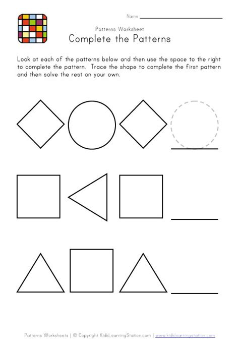 shape pattern activities easy preschool patterns worksheet 1 black and white