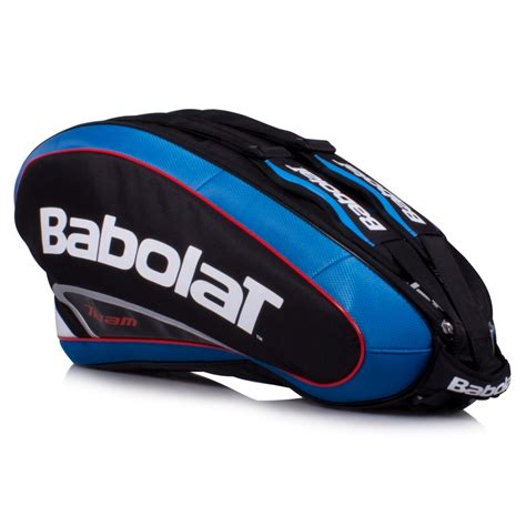 babolat team 6 pack tennis bag black blue