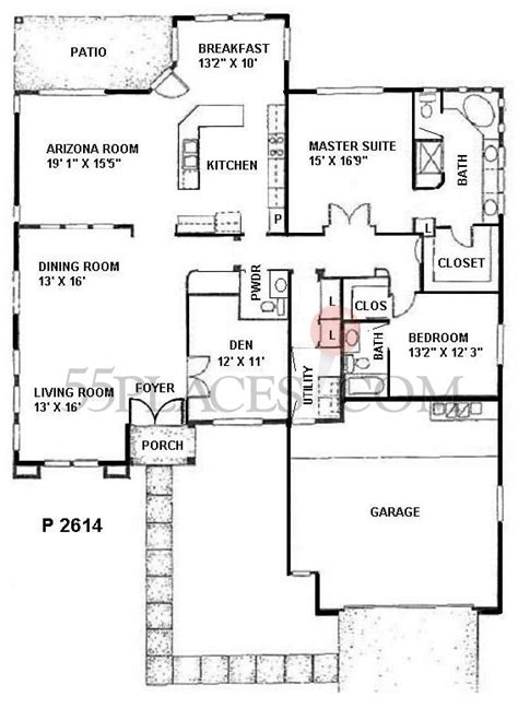 sun city west san simeon floor plan p2614 san carlos floorplan 2564 sq ft sun city west