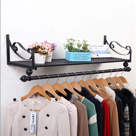 Hanger Busagantungan Baju Gantungan Fleksibel iron clothing on display clothing racks garment rack shelf clothes hanger rack side wall bags