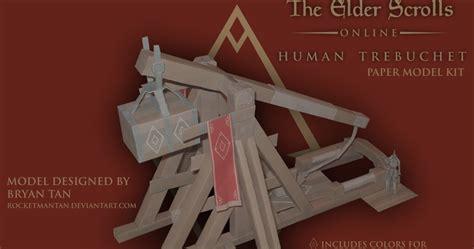 Human Papercraft - elder scrolls human trebuchet papercraft papercraft