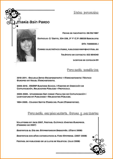 Modelo De Curriculum Vitae Profesional Pdf pretty modelos de resume ideas documentation template