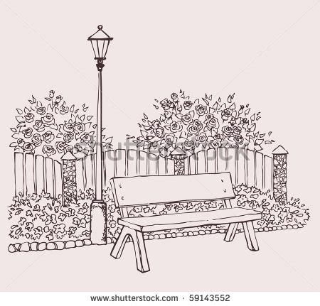 how to draw a park bench park bench sketch google search park sketches