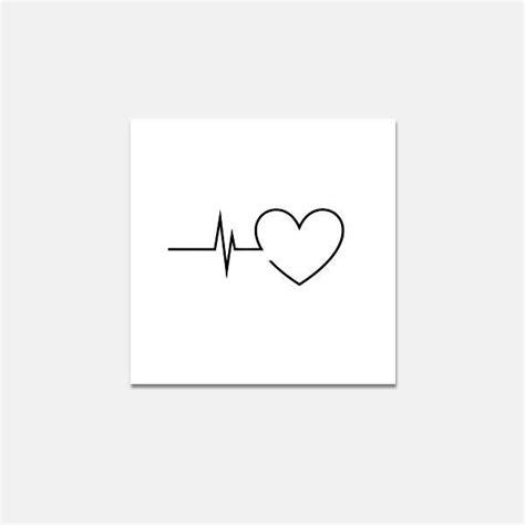 Tatoo Poignet Heartbeat Battement De Coeur | pochoir pochoir battement de coeur pour les tatouages