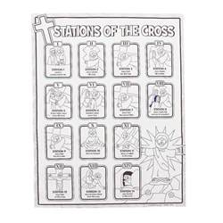 stations of the cross coloring pages color your own stations of the cross posters