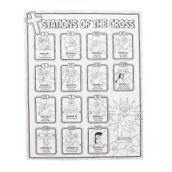 Color your own stations of the cross posters oriental trading