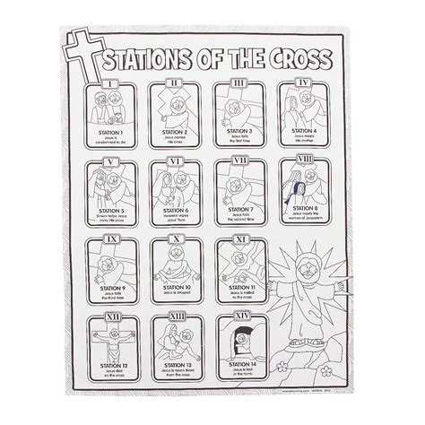 cross coloring pages stations of the cross coloring pages