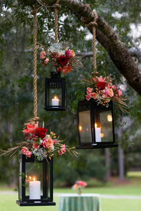 Wedding Decor Flower by Pink Flower Decorated Hanging Lantern Wedding Decor