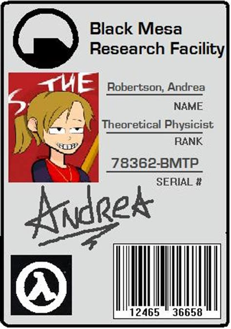 black mesa id card template black mesa id card by alikata on deviantart